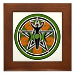 Green Goddess Pentacle Framed Tile