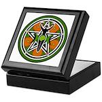 Green Goddess Pentacle Keepsake Box