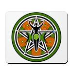 Green Goddess Pentacle Mousepad