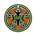 Green Goddess Pentacle Ornament (Round)