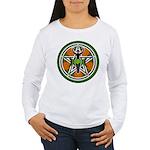 Green Goddess Pentacle Women's Long Sleeve T-Shirt