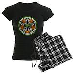 Green Goddess Pentacle Women's Dark Pajamas