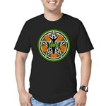 Green Goddess Pentacle Men's Fitted T-Shirt (dark)