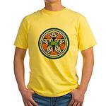 Green Goddess Pentacle Yellow T-Shirt
