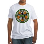 Green Goddess Pentacle Fitted T-Shirt