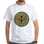Green Goddess Pentacle White T-Shirt