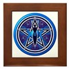Blue-Purple Goddess Pentacle Framed Tile