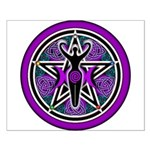 Purple-Teal Goddess Pentacle Small Poster