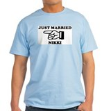 Just Married Nikki Ash Grey T-Shirt