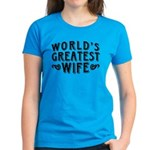 World's Greatest Wife Women's Dark T-Shirt