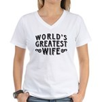 World's Greatest Wife Women's V-Neck T-Shirt