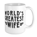 World's Greatest Wife Large Mug
