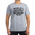 World's Greatest Husband Men's Fitted T-Shirt (dar