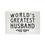 World's Greatest Husband Rectangle Magnet