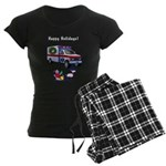 EMS Happy Holidays Greetings Women's Dark Pajamas