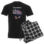 EMS Happy Holidays Greetings Men's Dark Pajamas