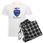 Police Boyfriend Men's Light Pajamas