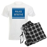 Police Detective Blues Men's Light Pajamas