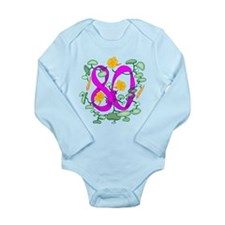 80th Birthday Long Sleeve Infant Bodysuit