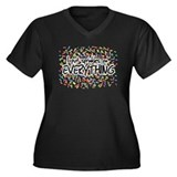 I Put Sprinkles on Everything Women's Plus Size V-