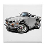 Triumph TR6 White Car Tile Coaster