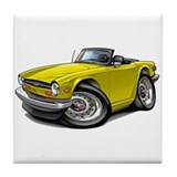 Triumph TR6 Yellow Car Tile Coaster