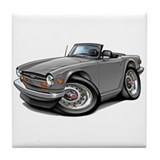 Triumph TR6 Silver Car Tile Coaster