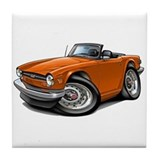 Triumph TR6 Orange Car Tile Coaster