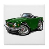 Triumph TR6 Green Car Tile Coaster