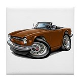 Triumph TR6 Brown Car Tile Coaster