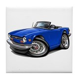 Triumph TR6 Blue Car Tile Coaster