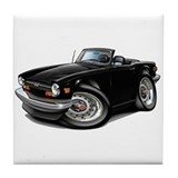 Triumph TR6 Black Car Tile Coaster