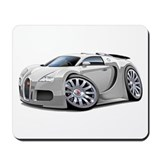 Veyron White Car Mousepad