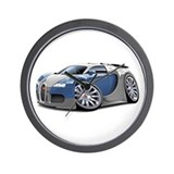 Veyron Grey-Blue Car Wall Clock