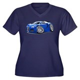 Veyron Blue Car Women's Plus Size V-Neck Dark T-Sh