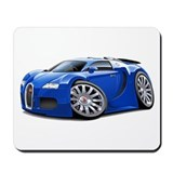 Veyron Blue Car Mousepad
