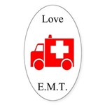 Love E.M.T. Oval Sticker
