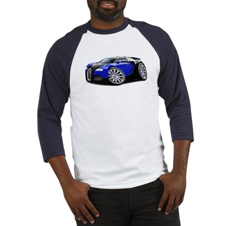 Veyron Black-Blue Car Baseball Jersey