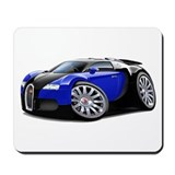 Veyron Black-Blue Car Mousepad