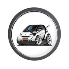 Smart White-Black Car Wall Clock