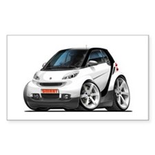 Smart White-Black Car Decal