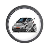 Smart Silver Car Wall Clock