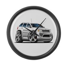 Jeep Cherokee White Car Large Wall Clock