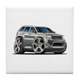 Jeep Cherokee Silver Car Tile Coaster