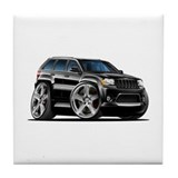 Jeep Cherokee Black Car Tile Coaster