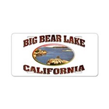 Big Bear Lake Aluminum License Plate