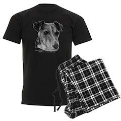 Smooth Fox Terrier Men's Dark Pajamas