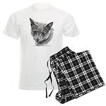 Russian Blue Cat Men's Light Pajamas