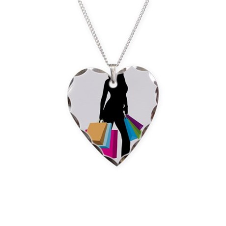 shopgirl Necklace Heart Charm