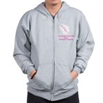 Support - Pink Zip Hoodie